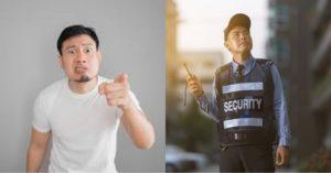 Ginagawa Lang Naman ng Guwardiyang Ito ang Kaniyang Trabaho; Sapak pa ang Kaniyang Inabot sa Lalaking Sinita Niya